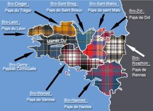 La carte des tartans bretons